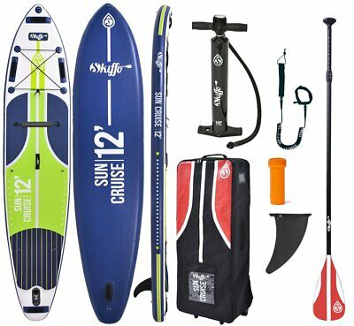 Skiffo 12.0 Sun Cruise Premium Sup Stand Up Paddle Family Board Pagaie Leash