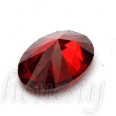 7x5mm Artificial Oval Shape Cut Red Ruby Mozambique Loose Gemstone Stone Gift