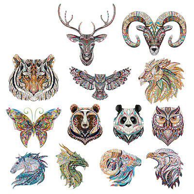 Animals Cartoon Embroidery Stickers Sew Iron On Patches Badge Clothes Fabric