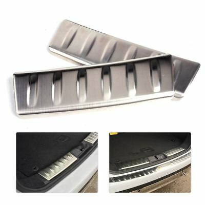 2x Stainless Steel Rear Door Sill Protector Plate Bumper Cover for Jaguar F-Pace