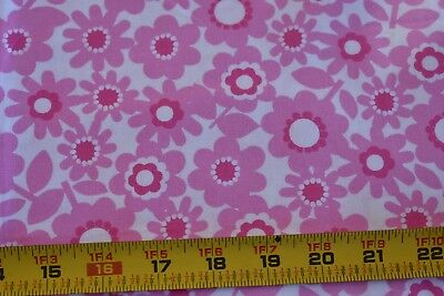 By 1/2 Yd, Pink Floral on Cream Cotton/Windham/Foliage/Pocket Full Posies, N3668