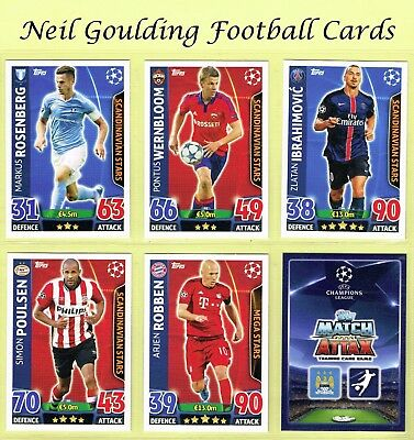 CHAMPIONS LEAGUE MATCH ATTAX 2015-2016 ☆☆☆ NORDIC EDITION ☆☆☆ Cards #N1 to #N16