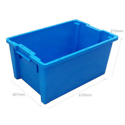 10 x 180º Plastic Stacking and Nesting Containers 50 Litre - Coloured