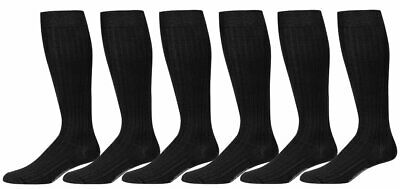 6 Pairs Mens Dress Socks Cotton Knee High Over the Knee Over the Calf Luxury