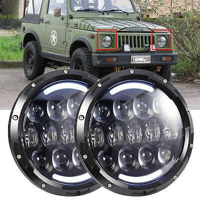 For Suzuki Samurai SJ410 7'' CREE CHIP LED Headlight High/Low Beam Signal DRL 2X