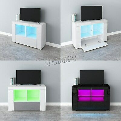 Westwood Modern LED TV Cabinet Unit Stand – High Gloss Doors Matte Body TVC15