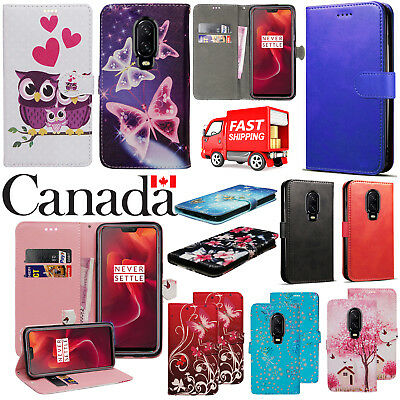 For Oneplus 6T Shockproof Stylish PU Leather Flip Wallet Phone Stand Case Cover