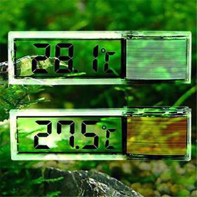 1pc LCD 3D Crystal Digital Measurement Fish Tank Reptile Aquarium Thermometer H2