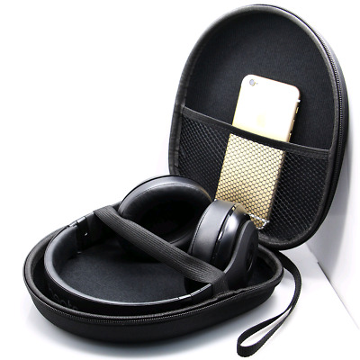 Headset Carry Pouch Box Headphone Earphone Case Bag Storage Organizer Collector
