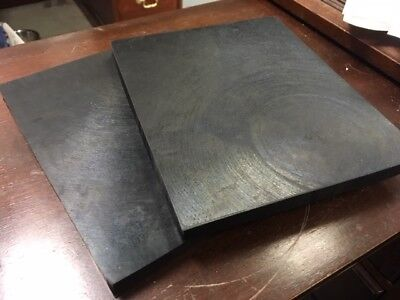 "Rubber Sheet Pad Solid 1/2"" Thk x 7 x 8.5 - Mounting Pad  70 Duro - qty 2  USA"
