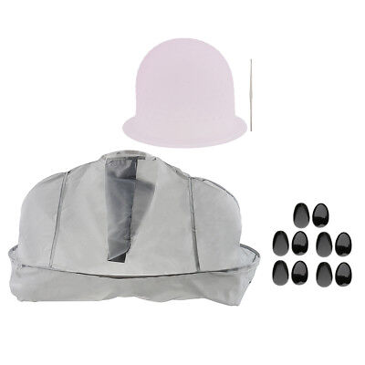Salon Hair Dyeing Tools Set Coloring Cape Tinting Cap Hook Ear Covers Kit