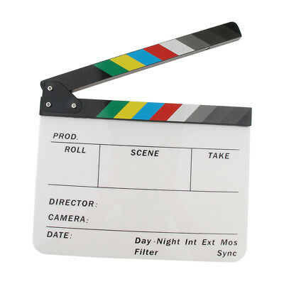 Colorful Clapboard for Party Role Play Microfilm Movie Making Clapper Board
