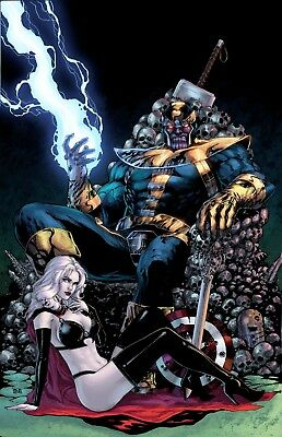 Thanos - Marvel Comics Queen Of Death Wall Art Poster / Canvas Picture Print