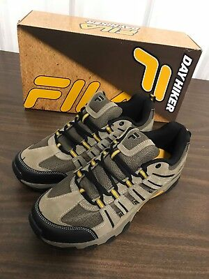 FILA DAY HIKER Trail Running Athletic Shoes Black Brown Gold
