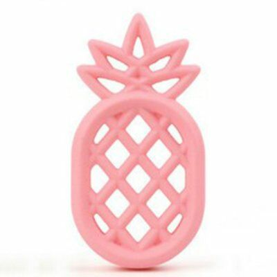 Pineapple Teether Babies Teething Toy BPA Free Soft Silicone Teether Chew Toy SU
