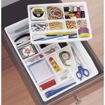 The Everything Junk Drawer Organizer 22-Compartment Storage System+Labels SEALED