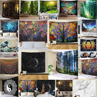 US Stock Hippie Psychedlic Tapestries Wall Hanging Tapestry Art Home Decoration
