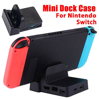 For Nintendo Switch Charging Dock Station USB Charger Hub Travel Stand Case