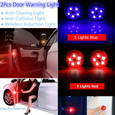 2x Car Door LED Warning Light Driving Safety Anti-collid Signal Lamps Universal