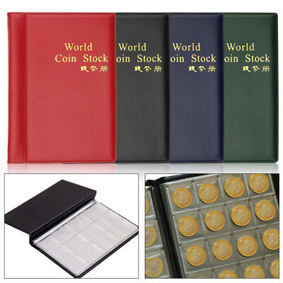 120 Coins Stock Holder Money Storage Pocket Penny Collection Album Book Collect