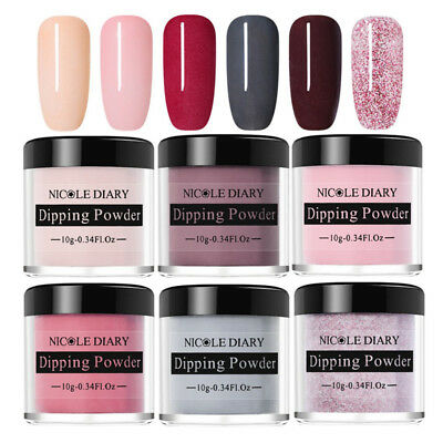 6 Boxes NICOLE DIARY Nail Art Dipping System Powder Dip Natural Dry No Need Lamp
