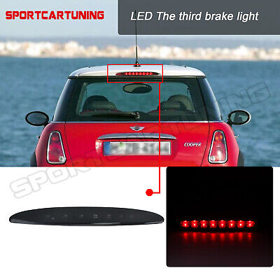 FITS MINI COOPER ONE R50 R53 2001-06 SMOKED 3RD THIRD LED REAR BRAKE LIGHT STOP
