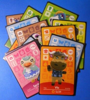 assorted Animal Crossing Amiibo cards: choose from list