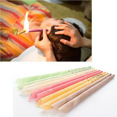 5colors Earwax Candles Hollow Blend Cones Beeswax Ear Cleaning Massage Treatment