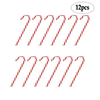 Plastic Candy Cane Ornaments,Christmas Tree Decoration,12Pcs NEW USA Shipping