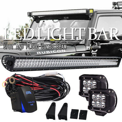52inch 300W Straight Led Light Bar Work Driving Fog Offroad Jeep Boat SUV UTE 50