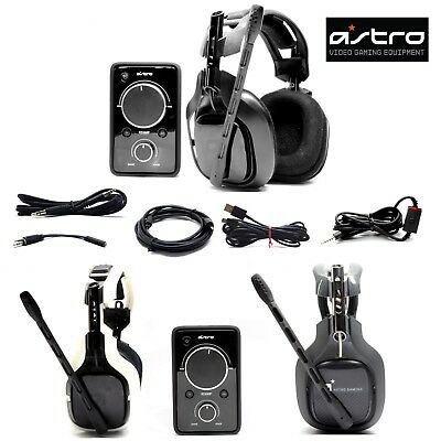 New Astro a40 Gaming Headset and Mixamp PRO for Xbox 360 Ps3 Ps4 PC Black White