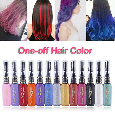 13 Colors Unisex Non-toxic Temporary Hair Color Wax Dye Comb Hair Styling Cream