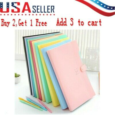Plastic Colored Expanding File Folders Accordion Document Organizer 5-Pocket