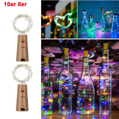 2M 20LED LED Cork Wine Bottle Stopper Copper Wire String Lights Fairy Lamps