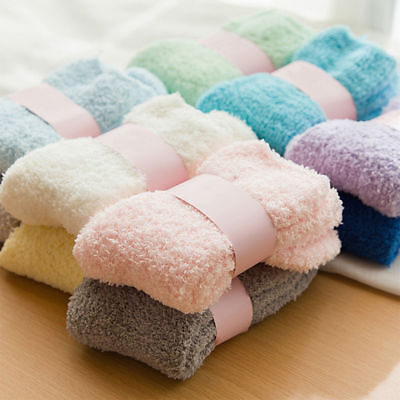 6 Pairs Womens Girl Lady Soft Cozy Fuzzy Socks Winter Home Soft Warm Dot Slipper