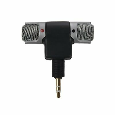 1X(Portable Mini Mic Digital Stereo Microphone for Recorder,PC O1W2)