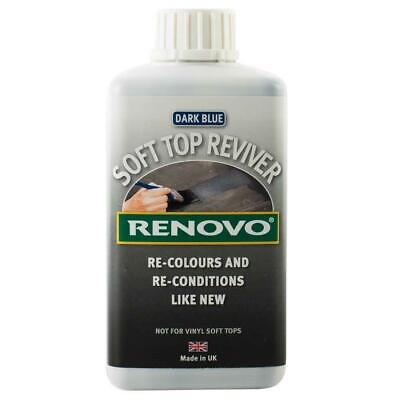Renovo Soft Top Canvas Hood Reviver BLUE 500ml Dyes Convertible Car Roofs