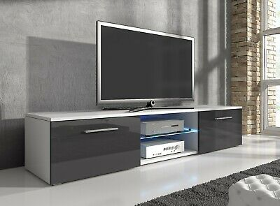TV Unit Cabinet Stand Entertainment Lowboard Samuel with UK LED