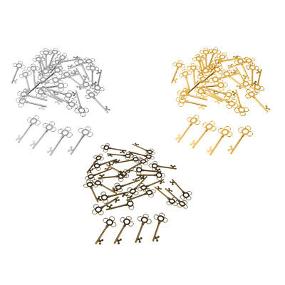 30Pcs Large Key Antique Metal Charms Pendants Skeleton Hollow Craft Jewelry