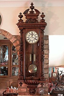 Antique German 'Gustav Becker' Twin Weight Vienna Wall Striking Clock, 1852