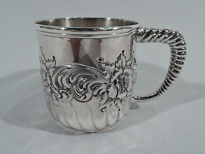 Whiting Mug - 100A - Antique Christening Baby Cup - American Sterling Silver