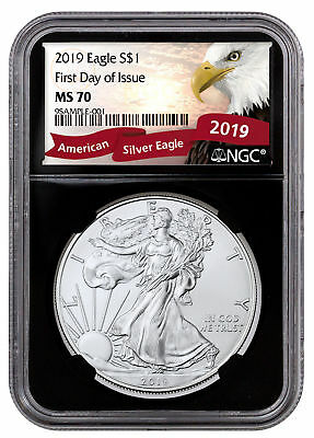 2019 1 oz American Silver Eagle NGC MS70 FDI Black Core Exclusive SKU56070