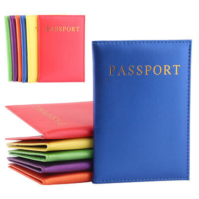 New PU Travel Passport Cover Holder ID Credit Card Bag Wallet Case Accessories