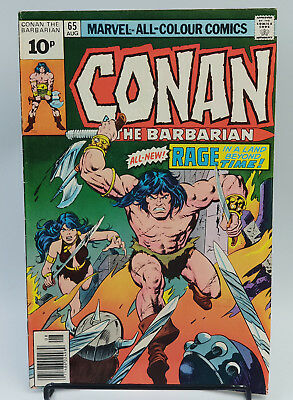 Conan The Barbarian #65 Bronze Age Marvel Comics Robert E. Howard VF