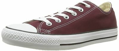 Converse Unisex Chuck Taylor All Star Ox Low Top Classic Burgundy Sneakers  10 M d80490b1c