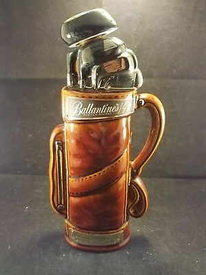 Vintage Whiskey Decanter 1969 Ballantine's Scotch Whiskey Golf Bag and Clubs