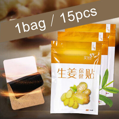 15X Repel Cold Foot Patches Detox Ginger Pads Body Toxin Feet Cleansing Herbal*t