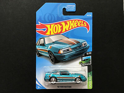 2019 Hot Wheels Super Treasure Hunt STH > '92 Ford Mustang , USA Carded