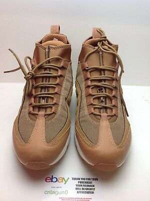 a477cc8f65 Nike Air Max 95 Sneakerboot Wheat Flax Ale Brown Sail Gum Mens Size 9.5