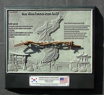 The Wire Fence from the DMZ - Korea - Special Edition Plaque w/ Barbed Wire